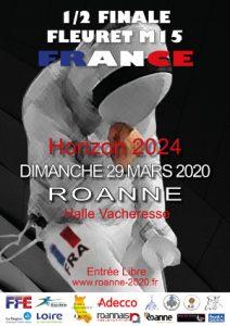 H2024 demi-finale fleuret M15 à ROANNE @ Halle Vacheresse à ROANNE
