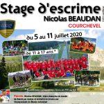 Juil 2020 – Le 12e stage de fleuret Nicolas Beaudan aura bien lieu à Courchevel