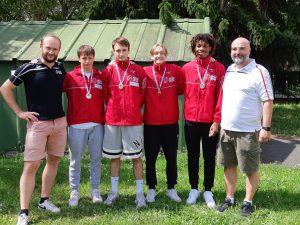 L'équipe féméinine de la Société d'Escrime de Lyon vice-championne de France N1 de fleuret hommes M20