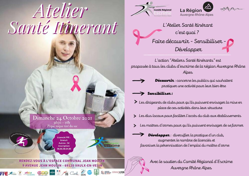 Atelier Santé Itinérant Vaux en Velin : escrime et cancer du sein